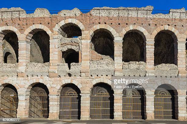 Verona Arena Against Clear Blue Sky In City
