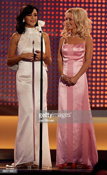 Verona Pooth and Cora Schumacher appear on stage during the 57th annual Bambi Awards at the International Congress Center on December 1 2005 in...
