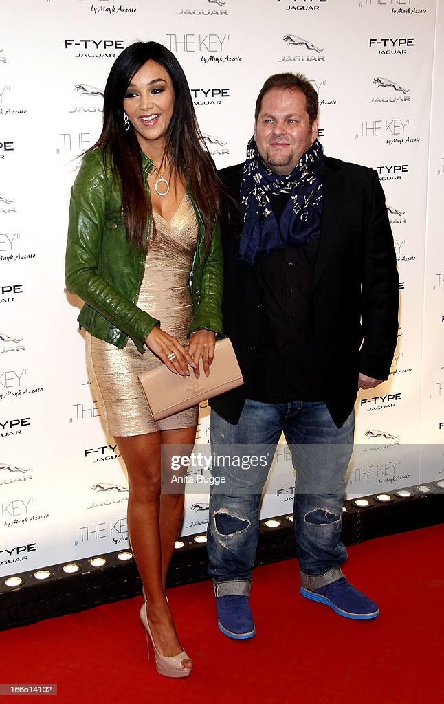 Verona Pooth and director Mayk Azzato attend the Jaguar F-Type commercial short movie 'The Key' premiere at e-Werk on April 13, 2013 in Berlin, Germany.