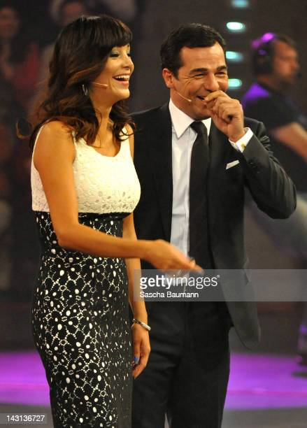 Verona Pooth and Erol Sander attend the SKL show 'Tag des Gluecks' at the Arena Ludwigsburg on April 19 2012 in Ludwigsburg Germany