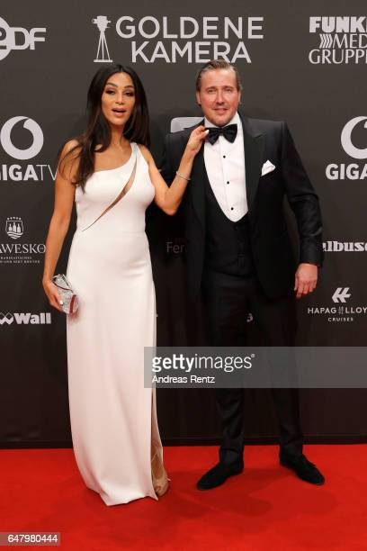 Verona Pooth and Franjo Pooth arrives for the Goldene Kamera on March 4 2017 in Hamburg Germany