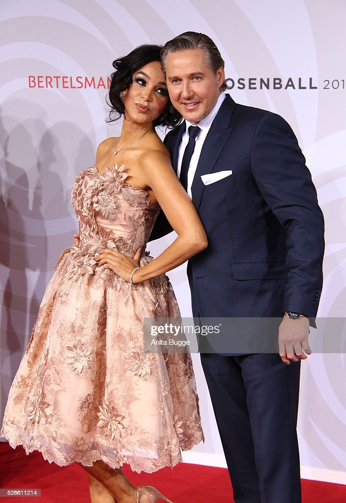Verona Pooth and Franjo Pooth attend the charity event 'Rosenball' at Hotel Intercontinental on April 30, 2016 in Berlin, Germany.
