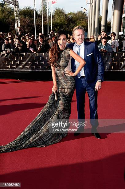 Verona Pooth and Franjo Pooth attend the Deutscher Fernsehpreis 2013 at the Coloneum on October 2 2013 in Cologne Germany