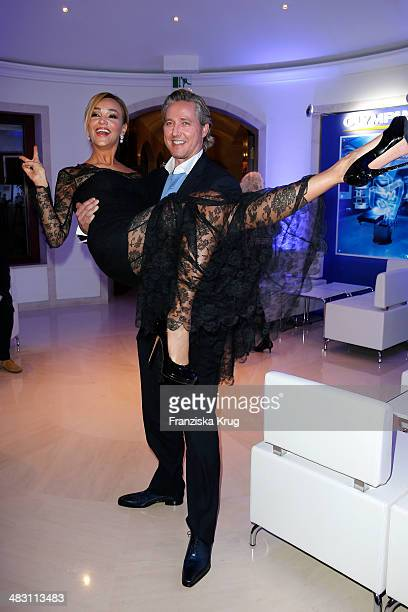 Verona Pooth and Franjo Pooth attend the Felix Burda Award 2014 at Hotel Adlon on April 06 2014 in Berlin Germany