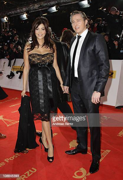Verona Pooth and her husband Franjo Pooth attend the 46th Golden Camera Awards at the Axel Springer Haus on February 5 2011 in Berlin Germany