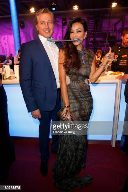 Verona Pooth and her husband Franjo Pooth attend the Deutscher Fernsehpreis 2013 After Show Party at Coloneum on October 02 2013 in Cologne Germany