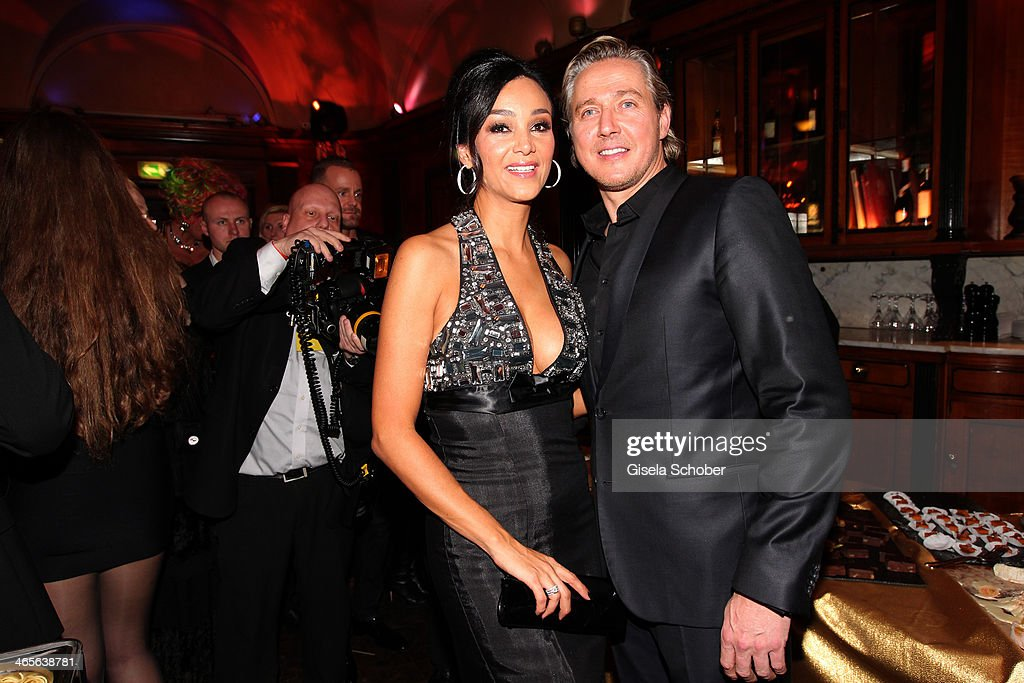 Verona Pooth and husband Franjo attend the Lambertz Monday Night at Alter Wartesaal on January 27, 2014 in Cologne, Germany.