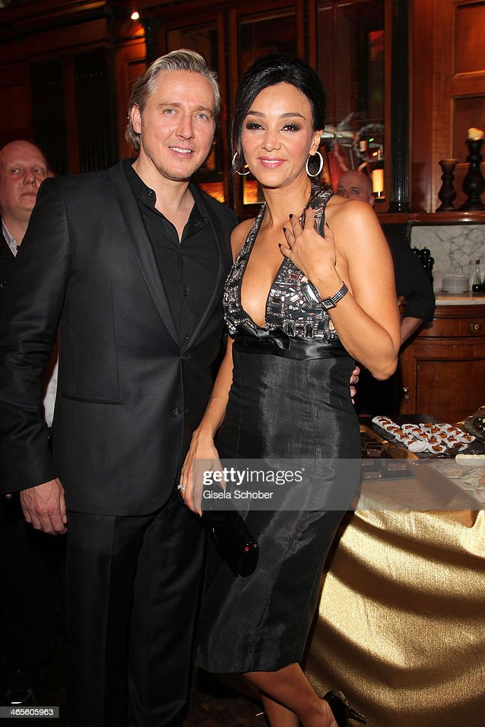 Verona Pooth and husband Franjo attends the Lambertz Monday Night at Alter Wartesaal on January 27, 2014 in Cologne, Germany.