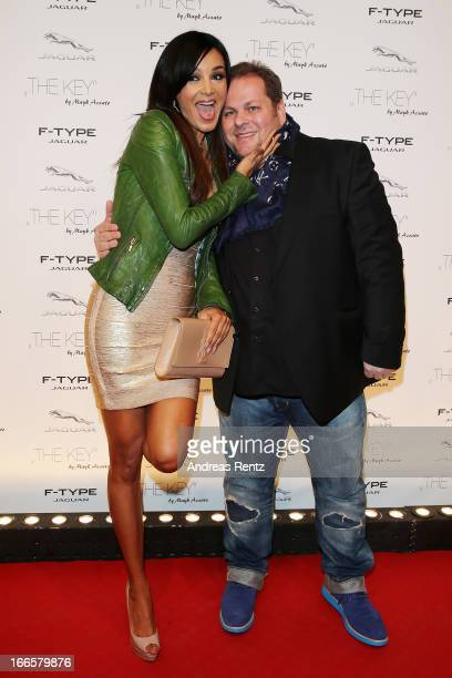 Verona Pooth and Mayk Azzato attend the Jaguar FType short film 'The Key' Premiere at eWerk on April 13 2013 in Berlin Germany