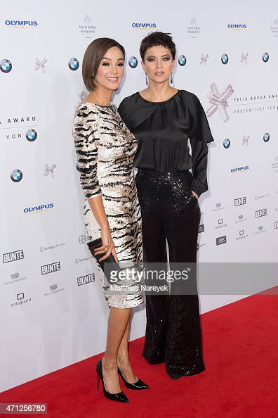 Verona Pooth and Najet El Kamel attend the Felix Burda Award 2015 on April 26 2015 in Berlin Germany