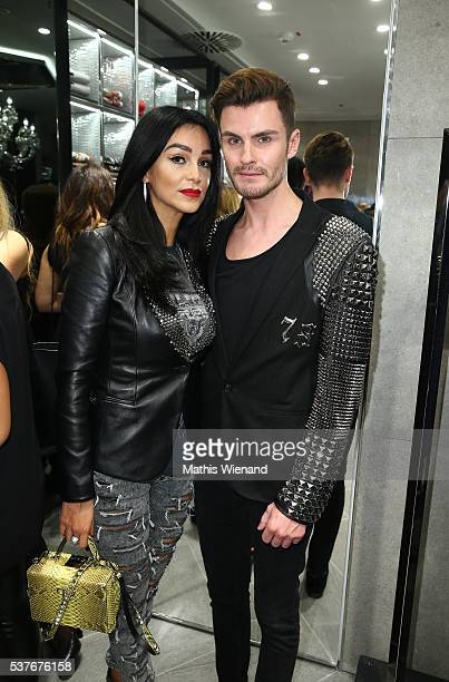 Verona Pooth and PaulHenry Duval attend the Philipp Plein Store Event on June 2 2016 in Duesseldorf Germany