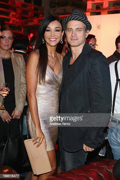 Verona Pooth and Ralf Bauer attend the Jaguar FType short film 'The Key' Premiere at eWerk on April 13 2013 in Berlin Germany