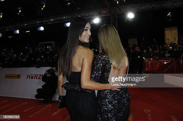 Verona Pooth and Sophia Thomalla attends the 48th Golden Camera Awards at the Axel Springer Haus on February 2 2013 in Berlin Germany