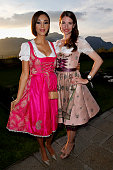 Verona Pooth and Sophie Wepper during the Kempinski Hotel Berchtesgaden opening party on May 8 2015 in Berchtesgaden Germany