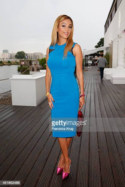 Verona Pooth attends the Arqueonautas Presents Kevin Costner Music Meets Fashion at Spindler Klatt on July 08 2014 in Berlin Germany