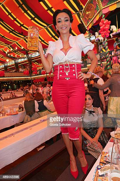 Verona Pooth attends the Regines Sixt Damen Wiesn during the Oktoberfest 2015 on September 21 2015 in Munich Germany