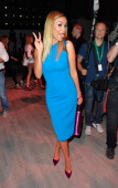 Verona Pooth attends the Riani show during the MercedesBenz Fashion Week Spring/Summer 2015 at Erika Hess Eisstadion on July 8 2014 in Berlin Germany