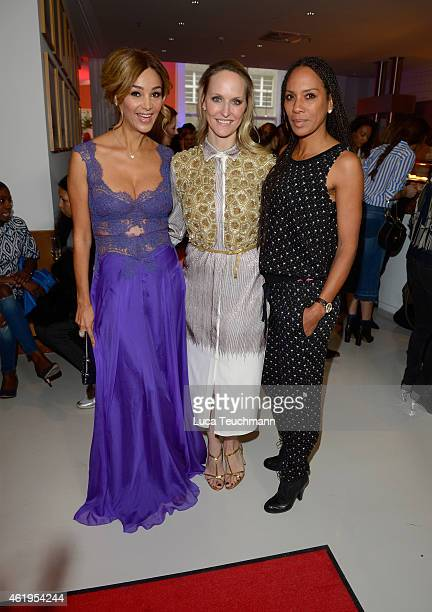 Verona Pooth Barbara Becker and Anne MeyerMinnemann attend the GALA Fashion Brunch at Ellington Hotel on January 22 2015 in Berlin Germany