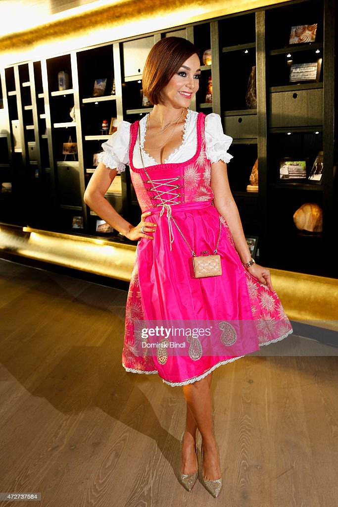 Verona Pooth during the Kempinski Hotel Berchtesgaden opening party on May 8, 2015 in Berchtesgaden, Germany.