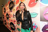 Verona Pooth during the presentation of 'Art of the Lip' by MAC Cosmetics at Haus der Kunst on June 24 2015 in Munich Germany