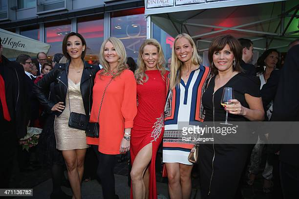 Verona Pooth Frauke Ludowig Katja Burkard Angela FingerErben Birgit Schrowange attend the party of Katja Burkard who celebrates her 50th Birthday at...