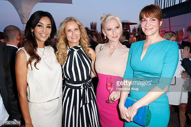 Verona Pooth Katja Burkard Desiree Nick and Alexandra Kamp attend the Bertelsmann Summer Party at the Bertelsmann representative office on June 6...
