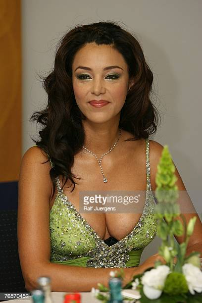 Verona Pooth launches her new skin care line 'Verona`s Dreams' at the Karstadt store on September 07 2007 in Cologne Germany