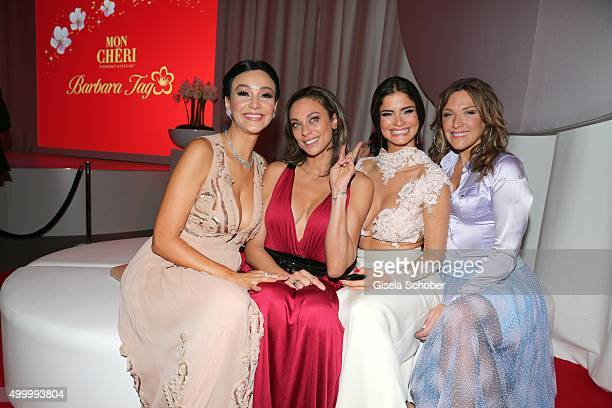 Verona Pooth Lilly Becker Shermine Shahrivar and Simone Ballack during the Mon Cheri Barbara Tag 2015 at Postpalast on December 4 2015 in Munich...