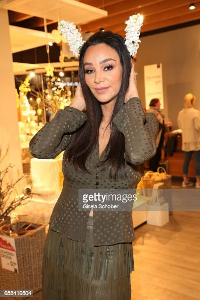 Verona Pooth with 'bunny ears' during the DEPOT easter shopping event on March 27 2017 in Munich Germany