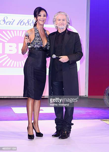 Verona Poth and Hermann Buehlbecker attend the Lambertz Monday Night at Alter Wartesaal on January 27 2014 in Cologne Germany