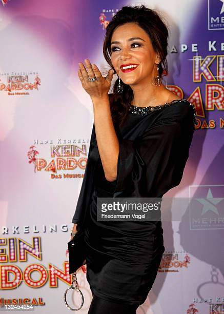 Verona Poth poses during the World Premiere of the 'Kein Pardon' musical at the Capitol Theater on November 12 2011 in Duesseldorf Germany