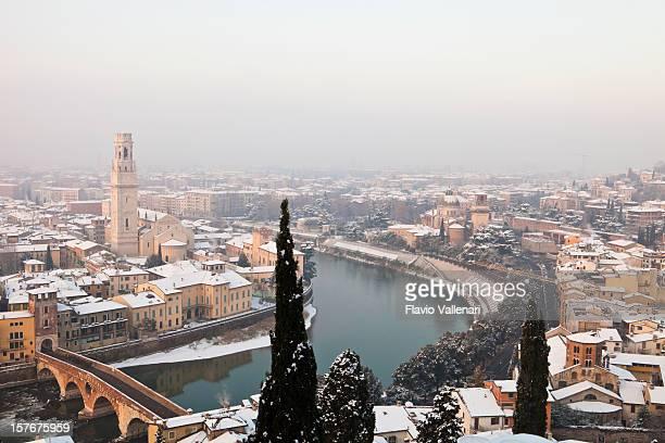 Verona Under Snow