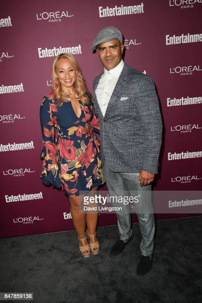 Veronica and Christopher Jackson attend the Entertainment Weekly's 2017 PreEmmy Party at the Sunset Tower Hotel on September 15 2017 in West...