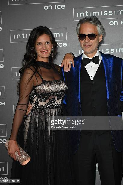 Veronica Berti and Andrea Bocelli attend Intimissimi On Ice at Arena on October 7 2016 in Verona Italy