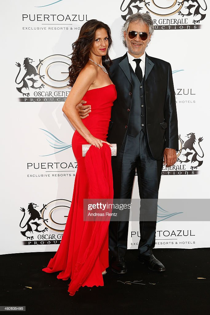 Veronica Berti and <a gi-track='captionPersonalityLinkClicked' href=/galleries/search?phrase=Andrea+Bocelli&family=editorial&specificpeople=211558 ng-click='$event.stopPropagation()'>Andrea Bocelli</a> attend the Puerto Azul Experience at the 67th Annual Cannes Film Festival on May 21, 2014 in Cannes, France.