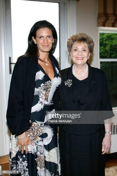 Veronica Berti and Matilda Raffa Cuomo attend JOHN SEXTON and MATILDA RAFFA CUOMO host a reception honoring ANDREA BOCELLI at Private Residence on...