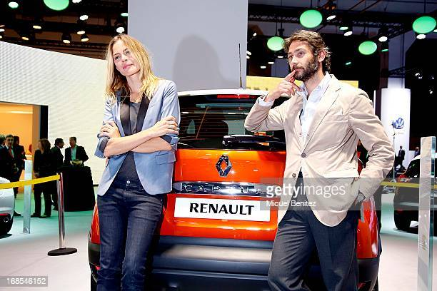 Veronica Blume and Sebastian Palomo Danko attend a press presentation of new Renault cars at the Barcelona Auto Trade Fair on May 10 2013 in...