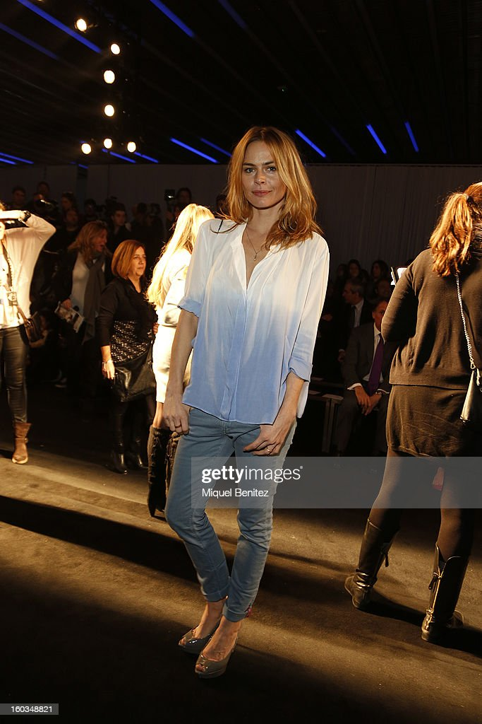 Veronica Blume attends the TCN fashion show as part of the 080 Barcelona Fashion Week Autumn/Winter 2013-2014 on January 29, 2013 in Barcelona, Spain.