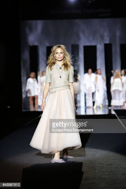 Veronica Blume walks the runway at the Duyos show during the MercedesBenz Madrid Fashion Week Autumn/Winter 2017 at Ifema on February 20 2017 in...