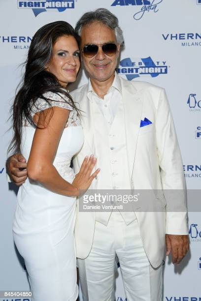 Veronica Bocelli and Andrea Bocelli attend Celebrity Fight Night on September 10 2017 in Rome Italy