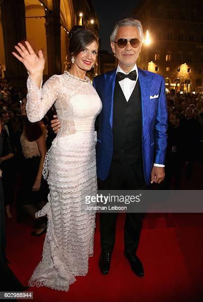 Veronica Bocelli and Andrea Bocelli attend the Celebrity Fight Night gala at Palazzo Vecchio as part of Celebrity Fight Night Italy benefiting The...
