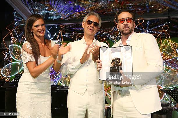 Veronica Bocelli Andrea Bocelli and Nicolas Cage attend a dinner and reception at Andrea Bocelli's country home as part of Celebrity Fight Night...