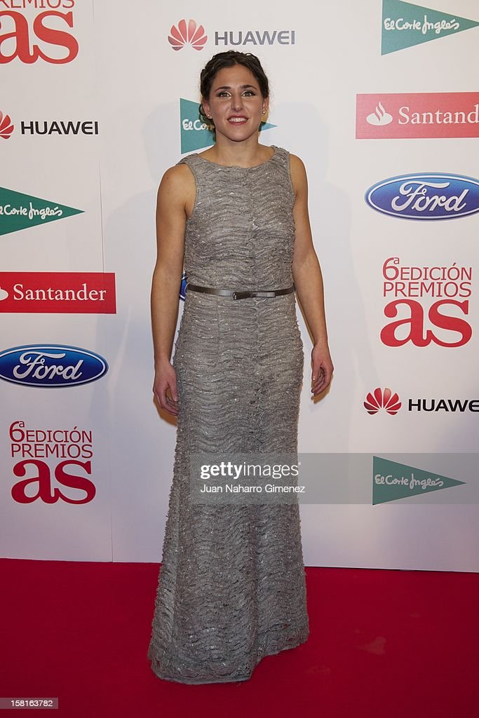 Veronica Boquete attends 'As del Deporte' awards 2012 at Palace Hotel on December 10, 2012 in Madrid, Spain.