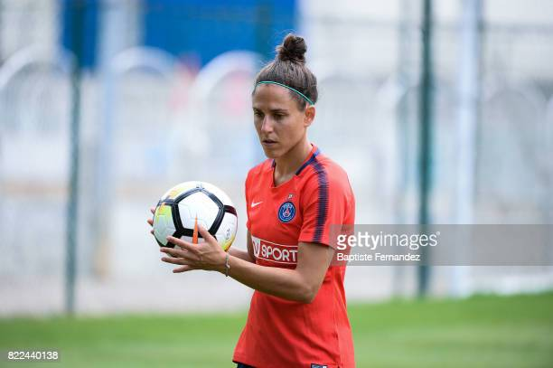 Veronica Boquete of Paris Saint Germain during a training session of Paris Saint Germain at Bougival on July 25 2017 in Paris France