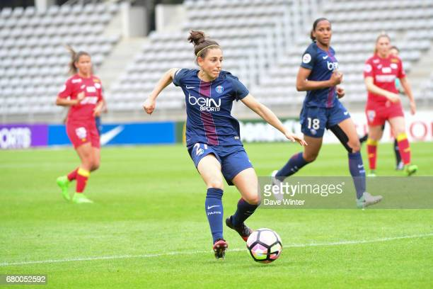 Veronica Boquete of PSG during the Women's Division 1 match between Paris Saint Germain and Asptt Albi on May 7 2017 in Paris France