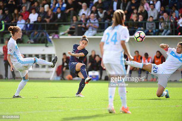 Veronica Boquete of PSG during the women's French D1 league match between PSG and Olympique de Marseille at Camp des Loges on September 25 2016 in...