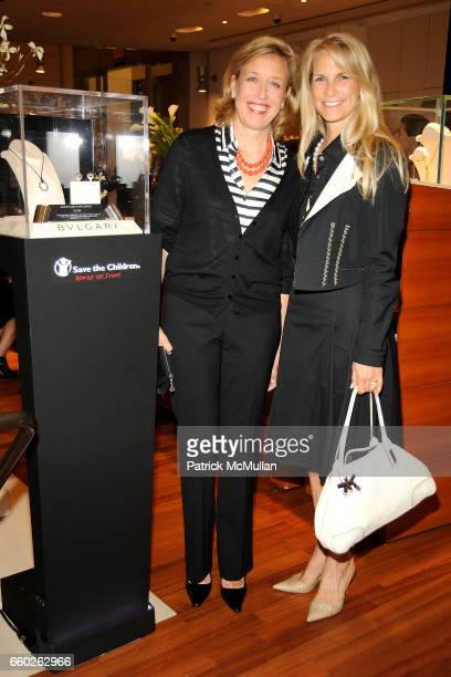 Veronica Bulgari and Martha De Laurentiis attend BVLGARI 'Save The Children' Cocktail Party at BVLGARI on June 18 2009 in New York