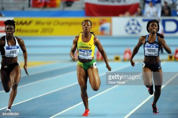 Veronica CAMPBELL BROWN / Tianna MADISON 60m Championnats de Monde d'Athletisme en Salle Atakoy Athletics Arena Istanbul Photo Dave Winter / Icon...