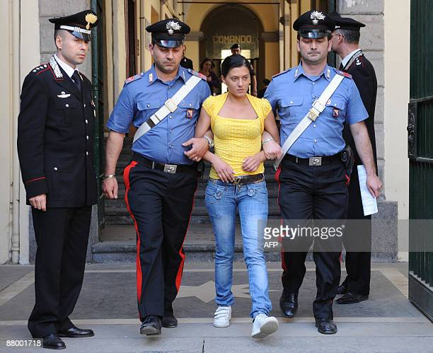 Veronica Carotenuto one of 10 women of Neapolitan Mafia Family TerraccianoArtisticoOrefice arrested earlier in the day on May 27 2009 in Pollena...