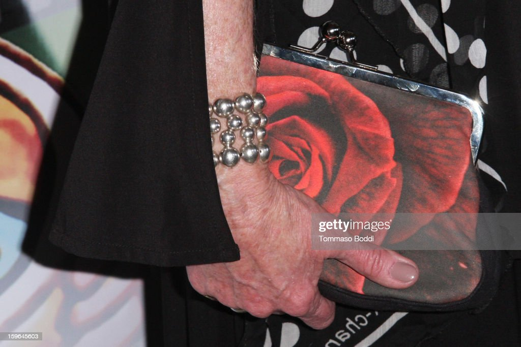 Veronica Cartwright (handbag details) attends the Red Line Tours presents the 'Directors Series' 2nd annual commemorative ticket VIP private press event held at American Cinematheque's Egyptian Theatre on January 17, 2013 in Hollywood, California.